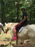 Campers learn about caring for horses
