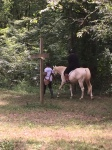 Campers learn about caring for and riding horses