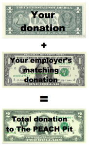 Some employers give $1 for each $1 you donate to charity.